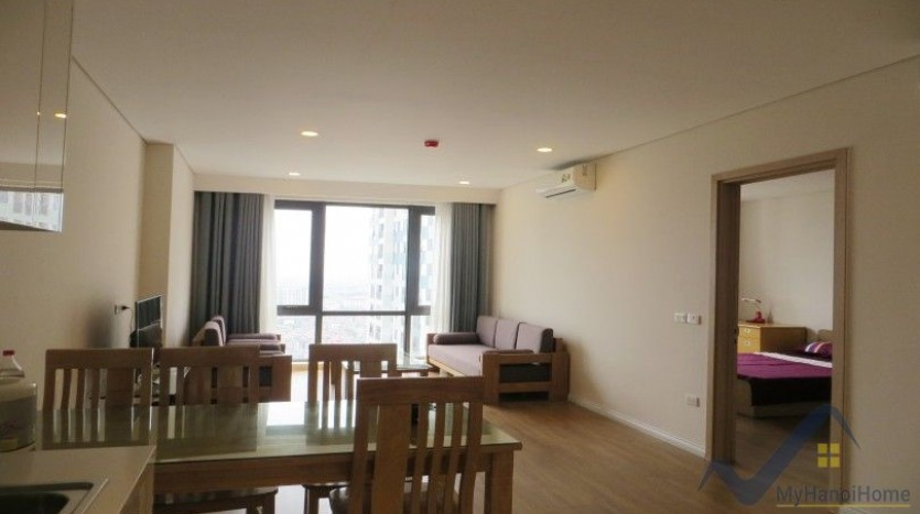 Partly furnished apartment in Mipec Riverside 02 bedrooms lake view