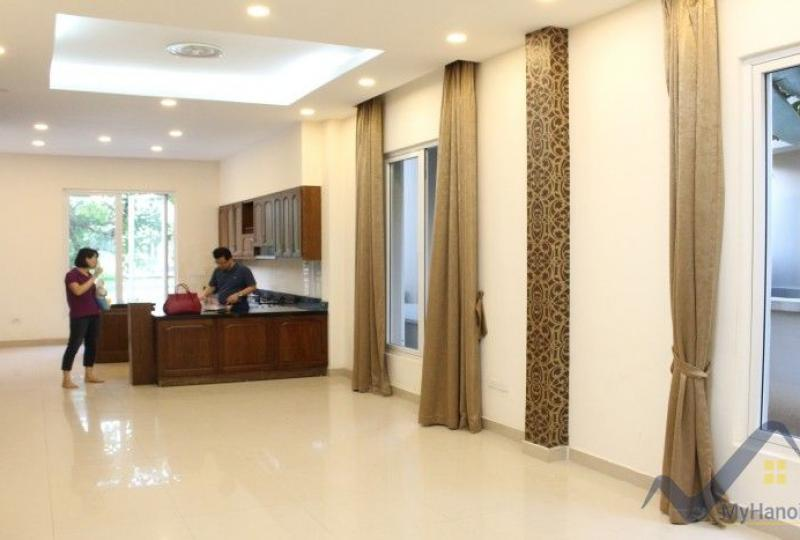 Partly furnished villa Vinhomes Riverside to rent Long Bien Hanoi