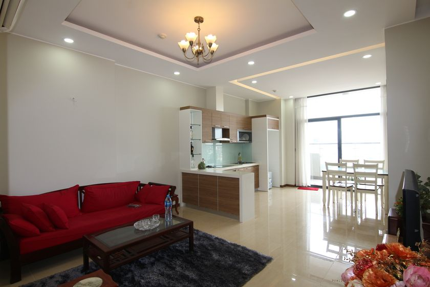 Partly Trang An Complex for rent with balcony 100m2