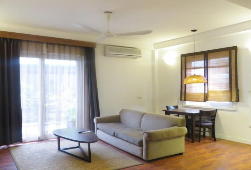 Private balcony 1 bedroom apartment rental in Tay Ho Hanoi