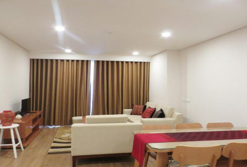 Red river view furnished 2 bedroom in Mipec Riverside to rent