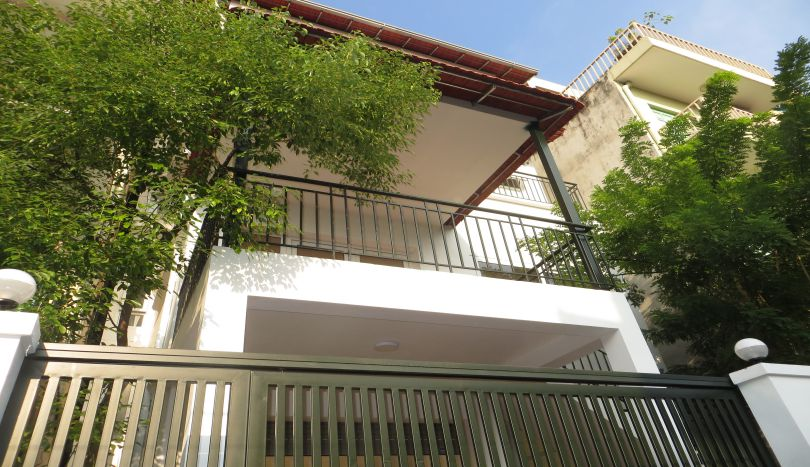 Refurbished house to rent in Tay Ho, car parking and terrace