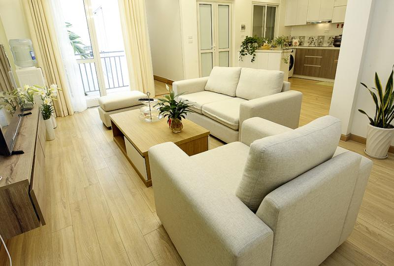 Rent furnished apartment in Xuan Dieu Tay Ho with 2 bedrooms