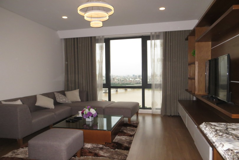 Rent furnished three bedroom apartment in Mipec Riverside Long Bien