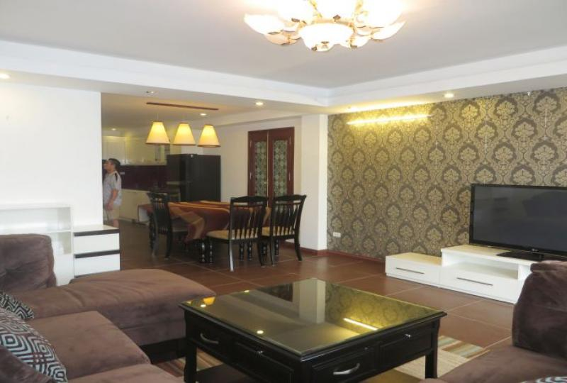 Renting a furnished 1 bedroom apartment in Tay Ho, 6th floor