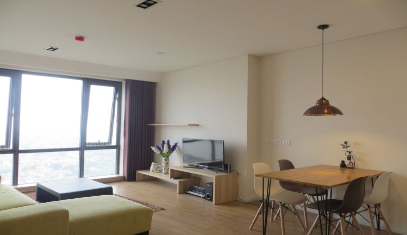 River view furnished 2 bedroom apartment for rent in Mipec Riverside