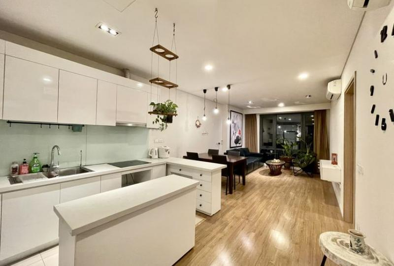 River view Mipec Long Bien apartment rental with 2 bedrooms furnished