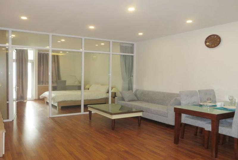 Serviced studio apartment for rent in Cau Giay, river view