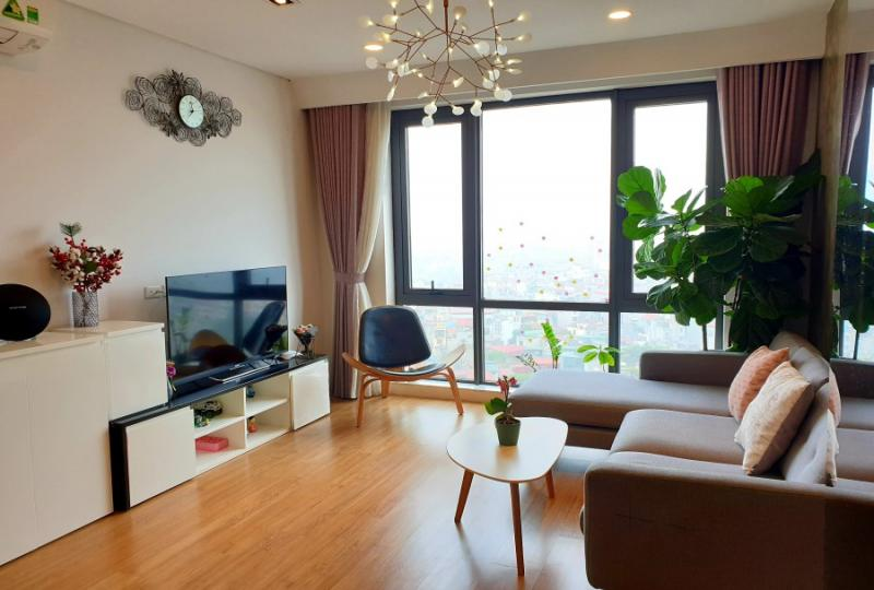 Spacious furnished 2 bedroom apartment in Mipec Long Bien Tower