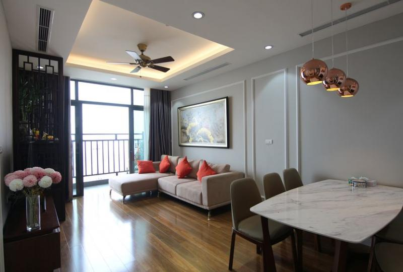 Sun Ancora Luong Yen apartment for rent 3 bedrooms furnished