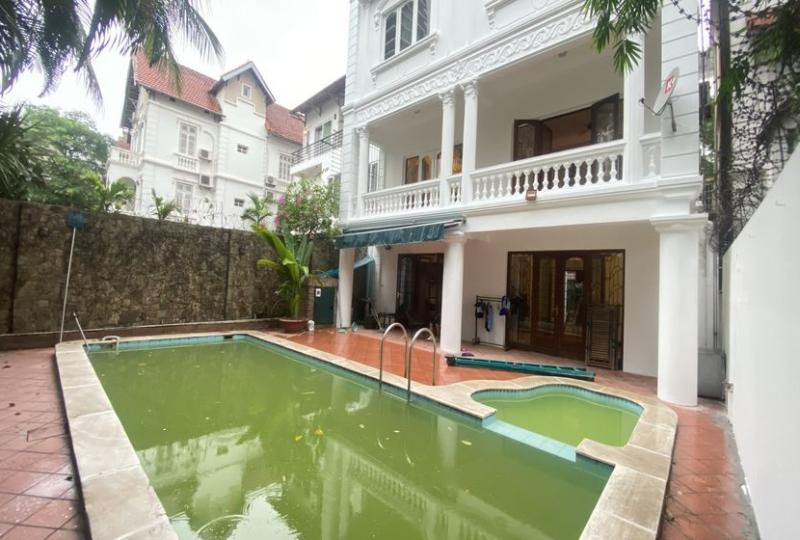 Tay Ho house rental with swimming pool on To Ngoc Van str