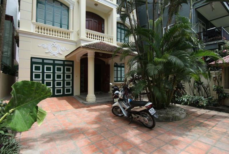 Unfurnished French architecture style house rental in Tay Ho, Hanoi