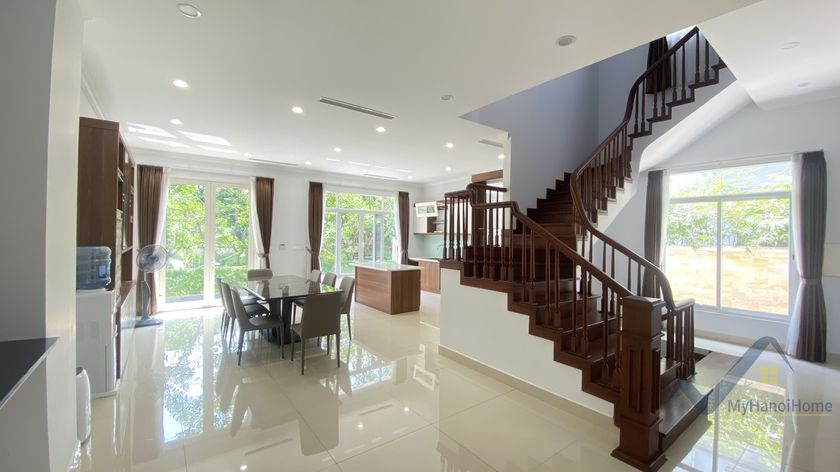 Unfurnished villa in The Harmony to rent 4 bedrooms near Vinschool