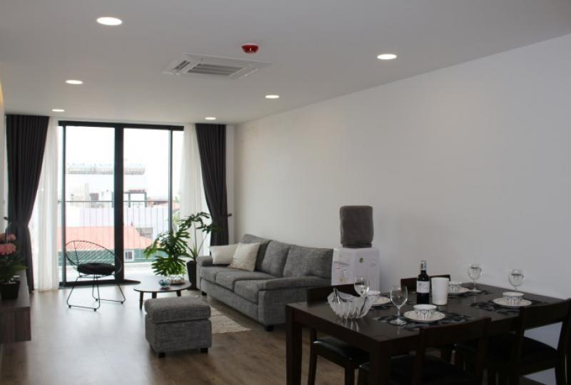 Westlake view balcony 2 bedroom apartment in Tay Ho rental furnished