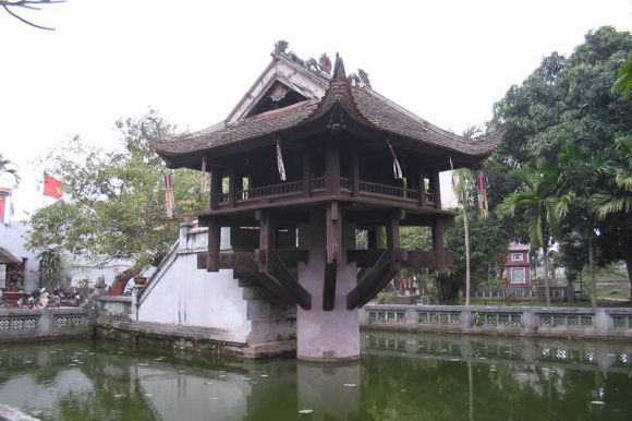One Pillar Pagoda in Ba Dinh, Hanoi