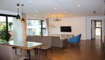 Furnished 04 bedroom apartment in Tay Ho Hanoi large balcony